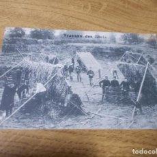 Postales: TRAVAUX DES ABRIS. . CIRCULADA 1912. Lote 107444055