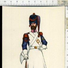 Postales: POSTAL MILITAR REGIMIENTO DEL REY Nº 1 AÑO 1821 CARLO EDICIONES EDUFRANC. Lote 108730267