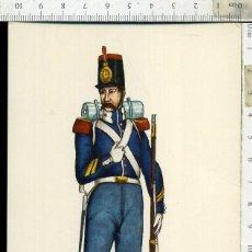 Postales: POSTAL MILITAR REGIMIENTO DEL REY Nº 1 AÑO 1846 CARLO EDICIONES EDUFRANC. Lote 108730339