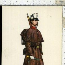 Postales: POSTAL MILITAR REGIMIENTO DEL REY Nº 1 AÑO 1862 CARLO EDICIONES EDUFRANC. Lote 108730999