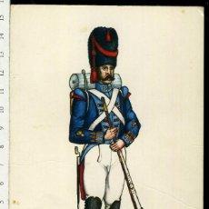Postales: POSTAL MILITAR REGIMIENTO DEL REY Nº 1 AÑO 1815 CARLO EDICIONES EDUFRANC. Lote 108731335