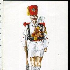 Postales: TARJETA FORMATO POSTAL SOLDADO GUARDIA COLONIAL GUINEA 1950 . Lote 108807543