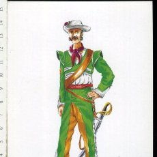 Postales: TARJETA FORMATO POSTAL VOLUNTARIO DE SIERRA GORDA NUEVA ESPAÑA 1820 JIMENA 96. Lote 108808019