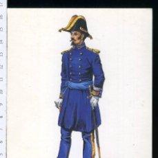 Postales: TARJETA FORMATO POSTAL BRIGADIER DEL CUERPO DE E.M DIARIO 1843 DE GREGORT. Lote 108809583