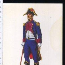 Postales: TARJETA FORMATO POSTAL SEGUNDO AYUDANTE DEL E.M DE OPERACIONES 1804 DE GREGORT . Lote 108809815
