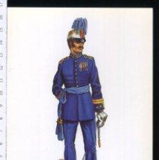 Postales: TARJETA FORMATO POSTAL TENIENTE CORONEL DEL CUERPO DE S.M GALA 1884 DE GREGORT . Lote 108810375