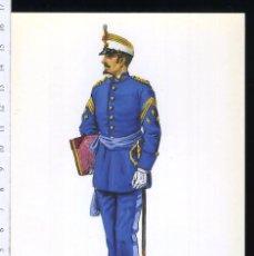 Postales: TARJETA FORMATO POSTAL T CAPITAN DEL CUERPO DE S.M DIADIO A PIE 1869 DE GREGORT . Lote 108810535