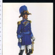 Postales: TARJETA FORMATO POSTAL SEGUNDO AYUDANTE DEL CUERPO DE S.M GALA 1810 DE GREGORT . Lote 108810719