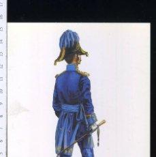 Postales: TARJETA FORMATO POSTAL TENIENTE CORONEL DEL CUERPO DE S.M GALA 1838 DE GREGORT . Lote 108810847