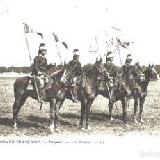 Postales: DRAGONES. PORTAESTANDARTES. FRANCIA. CIRCULADA EN 1912. Lote 110114019