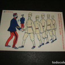Postales: POSTAL MILITAR ILUSTRADA LOS DE CUOTA SOLDADOS 1914. Lote 110203119