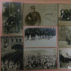 Postales: PR-210.- LOTE DE 8.- POSTALES FOTOGRAFICAS DE MILITARES , VARIOS LUGARES . Lote 110920811