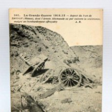 Postales: ANTIGUA POSTAL DE TEMATICA MILITAR. VISTA DEL FRENTE DE TROYON (FRANCIA). SIN CIRCULAR. Lote 111225847