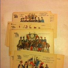 Postales: POSTALES EJÉRCITO FRANCÉS,ESCENAS DESDE 1724 A 1914- LOTE DE 20 - SIN CIRCULAR. Lote 111370623