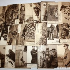 Postales: LOTE DE 22 POSTALES DE TEMA MILITAR. Lote 111676447