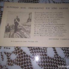 Postales: ANTIGUA POSTAL.BENIGNO VARELA ALFONSO XIII EN LA EXPATRIACION ROMA AÑO SANTO 1933 MIREN FOTOS . Lote 111825579
