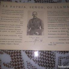 Postales: RARA Y ANTIGUA POSTAL.BENIGNO VARELA LA PATRIA, SEÑOR OS LLAMA EN LA EXPATRIACION ROMA AÑO 1933. Lote 111825975