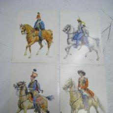 Postales: HISTORISCHE UNIFORMEN. UNIFORMES HISTORICOS. LOTE 4 POSTALES. Lote 112324619