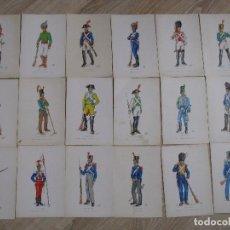 Postales: LOTE DE 18 POSTALES EJERCITO ESPAÑOL. ILUSTR. CAMPIÑA. ED. SERVICIO GEOGRÁFICO DEL EJERCITO 1969.. Lote 114602655