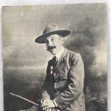Postales: POSTAL DE TEODORO IRADIER SECRETARIO C.G. EXPLORADORES DE ESPAÑA BOYS-SCOUTS. Lote 117898582