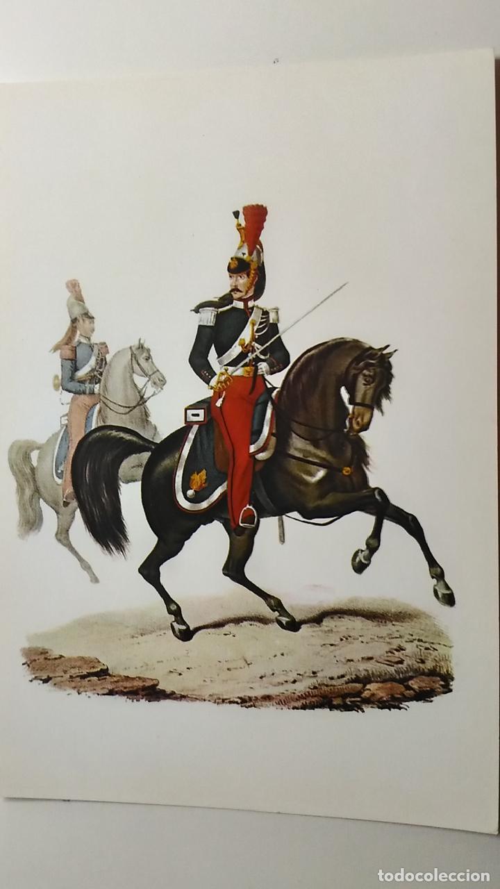 UNIFORME ITALIANO DE OFICIAL DEL REGIMIENTO DE CABALLEROS. AÑO 1854. (Postales - Postales Temáticas - Militares)