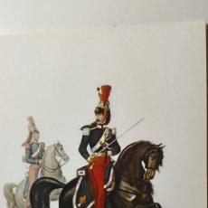 Postales: UNIFORME ITALIANO DE OFICIAL DEL REGIMIENTO DE CABALLEROS. AÑO 1854.. Lote 116119135