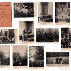 Postales: COLECCION ENTERA POSTALES CASTILLO DE FROHSDORF - JAIME III DE BORBON , SERIE 2 HAUSER Y MENET. Lote 132865762