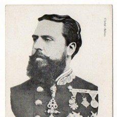 Postales: DON CARLOS DE BORBON (18799. CLICHE SAIN. SERIE C NUM 9. REVERSO SIN DIVIDIR. Lote 116207359