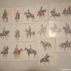 Postales: 18 ANTIGUAS POSTALES EJERCITO ESPAÑOL COLECCION SERIE DEL 1 AL 18 VER FOTOS AÑO 1969,AÑOS 60. Lote 117285352