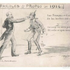 Postales: POSTAL PAROLES & PROPOS DE 1914. Lote 117532951