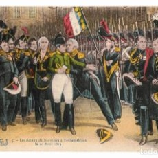 Postales: POSTAL LA DESPEDIDA DE NAPOLEÓN A FONTAINEBLEAU 20 ABRIL 1814. Lote 117614915