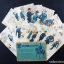 Postales: LOTE 20 POSTALES LA GUARDIA DE LA CIUDAD AYUNTAMIENTO BACELONA SERIE 1ª Y 2ª REPRODUCCION DE 1943. Lote 118004499