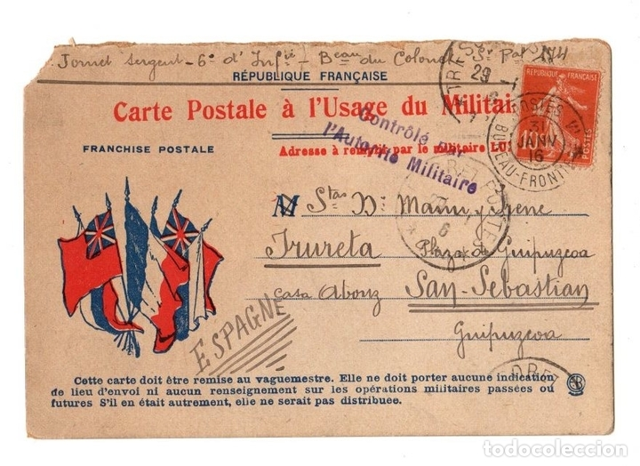 Carte Postale Francaise.Tarjeta Postal Republique Francaise Carte Post Buy
