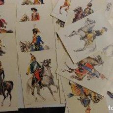 Postales: POSTALES. 40 POSTALES DE OFICIALES DE CABALLERIA DEL MUNDO, EPOCA DEL 1700 AL 1850. AÑ0S 80. Lote 118460051