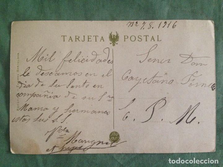 Postales: LERIDA . CASTILLO PRINCIPAL. PRESENTACIÓN DE LA BANDERA. REVISTA DE COMISARIO. ESCRITA 1916 - Foto 3 - 119034435