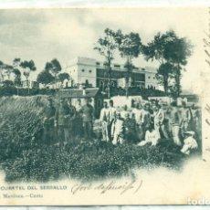 Postales: CEUTA CUARTEL DEL SERRALLO. CIRCULADA EN 1904.. Lote 120462387