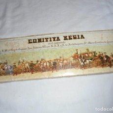 Postales: 64 LAMINAS COMITIVA REGIA EN EL CASAMIENTO ALONSO XII Y CRISTINA DE AUSTRIA.PATRIMONIO NACIONAL 1964. Lote 125445171