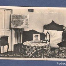 Postales: POSTAL: HOTEL MADRID (LAS PALMAS). HABITACION DEL GENERAL FRANCO - 1936. Lote 127956951