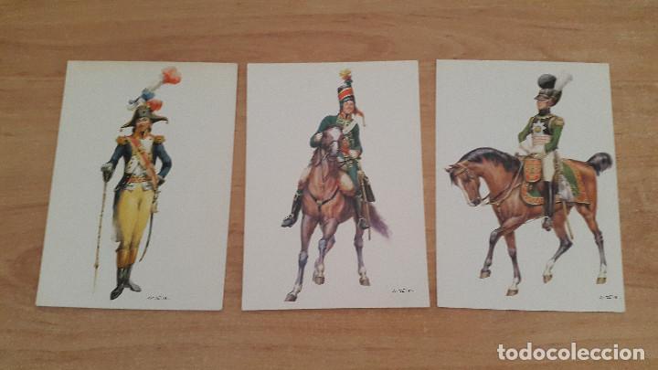 Postales: lote 14 postales militares - uniformes militares de ejércitos - ver fotos, se muestran todas - Foto 2 - 128711067