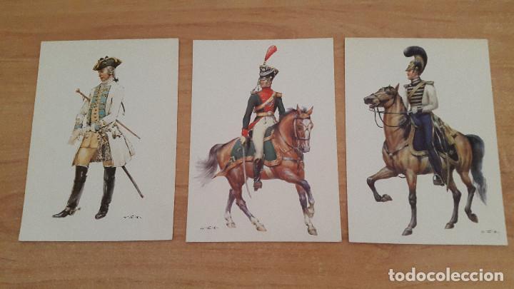 Postales: lote 14 postales militares - uniformes militares de ejércitos - ver fotos, se muestran todas - Foto 3 - 128711067