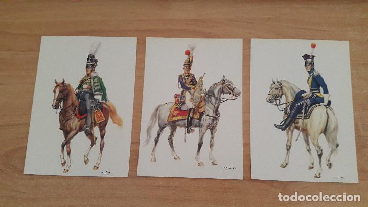Postales: lote 14 postales militares - uniformes militares de ejércitos - ver fotos, se muestran todas - Foto 4 - 128711067