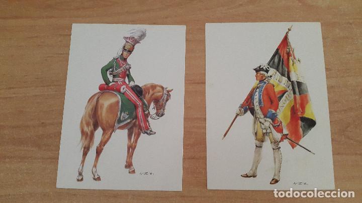Postales: lote 14 postales militares - uniformes militares de ejércitos - ver fotos, se muestran todas - Foto 6 - 128711067