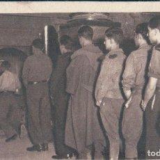Postales: POSTAL GUERRA CIVIL ESPAÑOLA - MILITARES EN ZARAGOZA EN EL PILAR - FOTO ANGEL CORTES. Lote 129242911