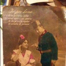Postales: POSTAL DE SOLDADO ÉPOCA ALFONSINA . Lote 131022712