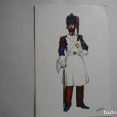 Postales: POSTAL 1821 REGIMIENTO DEL REY NUM.1. Lote 133779262