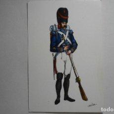 Postales: POSTAL MILITAR 1815 -REGIMIENTO REY NUM.1. Lote 133867182