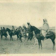 Postales: MARRUECOS CAMPAÑA DE MELILLA JINETES ARABES POLICÍA INDÍGENA. CAMPÚA CIRCULADA EN 1909.. Lote 134309674