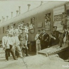 Postales: EJERCITO ALEMAN TREN VAGONES FERROCARRIL. CIRCULADA EN 1908.FOTOGRÁFICA.. Lote 134312294