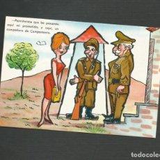 Postales: POSTAL CIRCULADA - DIBUJO MILITAR - EDITA VIRGEN DEL MAR - ALMERIA. Lote 134360018