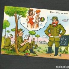 Postales: POSTAL SIN CIRCULAR - DIBUJO MILITAR - EDITA VIRGEN DEL MAR - ALMERIA. Lote 134360150